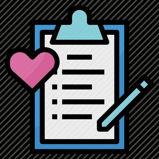 check, list, love, wish icon