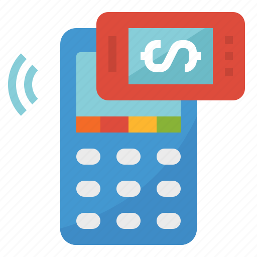 machine, mobile, payment icon