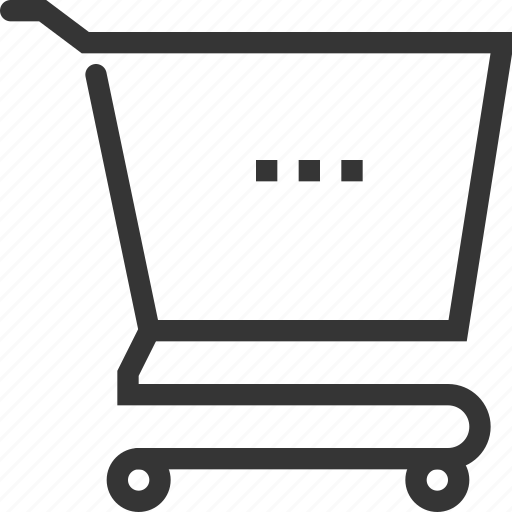 bag, commerce, online store, shopping cart, supermarket, trolley icon