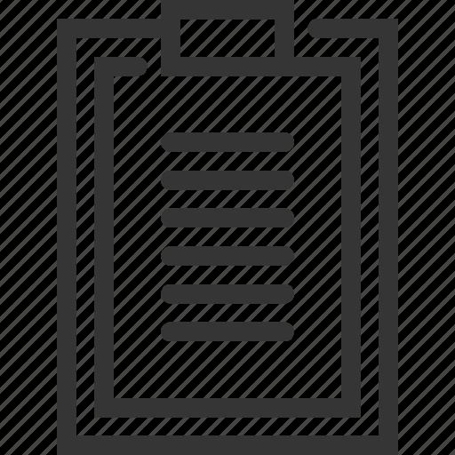 clip, clipper, document, list, shopping icon