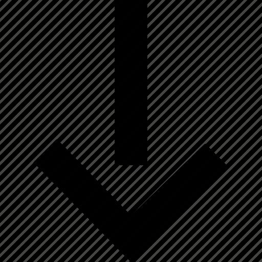 arrow, down, low, sales icon