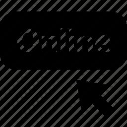 arrow, online, point, webbutton icon