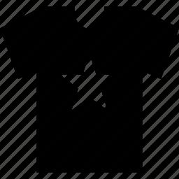graphic, shirt, star, tee, tshirt icon