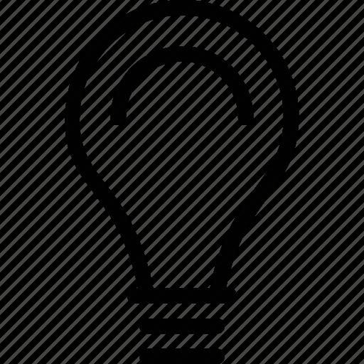 bulb, electric bulb, electricity, illumination, light icon
