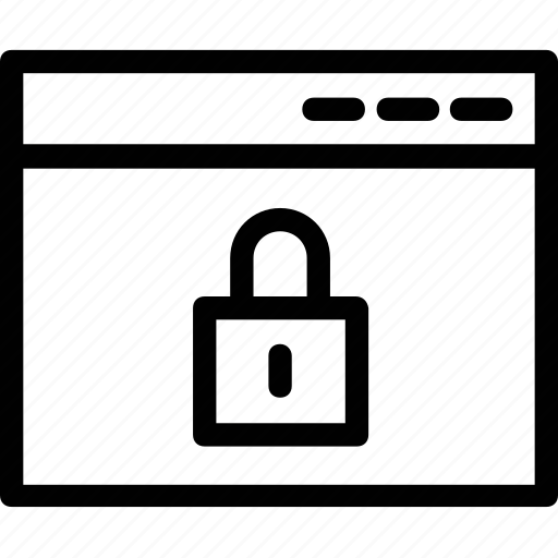 access denied, internet protection, online security, web protection, website lock icon
