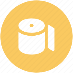 bathroom, cleaning, paper roll, tissue paper, tissue roll, toilet paper icon