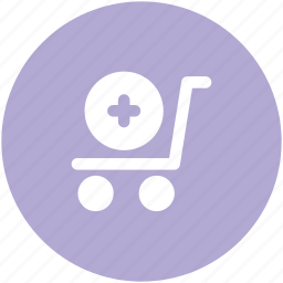 add sign, add to cart, ecommerce, shopping, supermarket, trolley icon