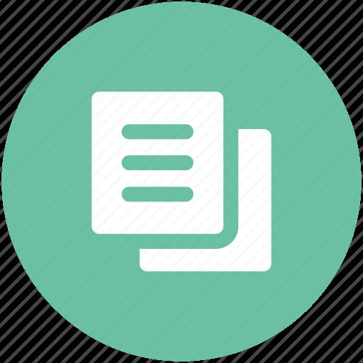 archive, copy, cut paste, documents, layout, manuals, paper icon