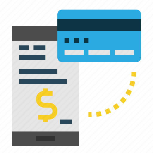 Mobile, pay, credit, money, payment, card icon