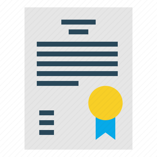 certificate, certification, degree, diploma, document, guarantee icon