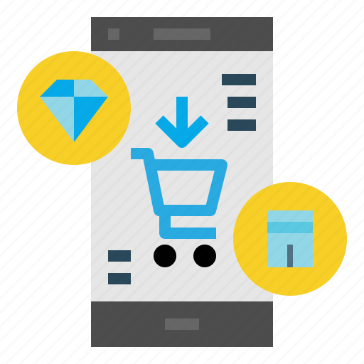 Mobile, shopping, ecommerce icon