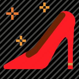 fashions, heel, high, woman icon