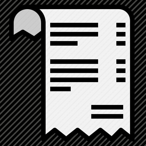 billing, invoice, receipt icon
