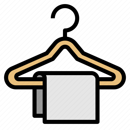 clothes, hanger, wardrobe icon