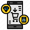 ecommerce, mobile, shopping icon