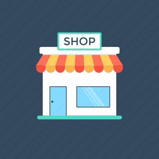 market, marketplace, shop, shopping point, store icon