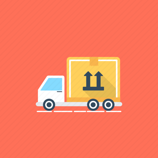 commercial delivery, delivery truck, delivery van, logistic delivery, shipment delivery icon