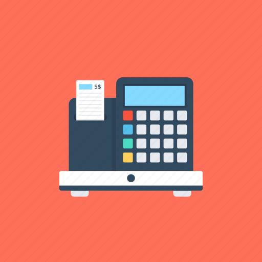 cash desk, cash register, sales point, shopping counter, transaction device icon