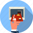 atm, bank, card, chip, credit, ecommerce, shopping icon