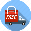 car, delivery, free, gift, present, transport, vehicle icon