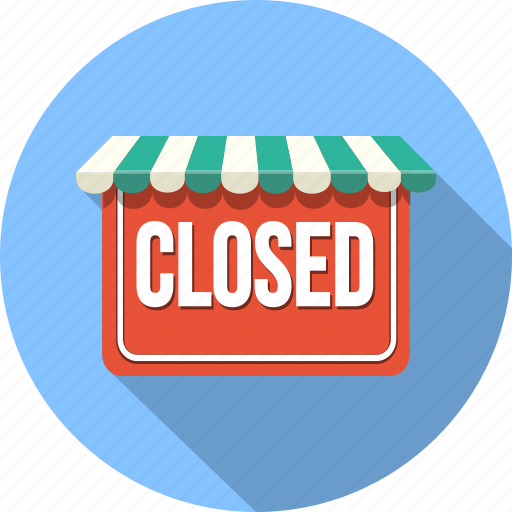 clossed, ecommerce, shop, shopping, store icon