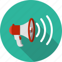 amplify, communication, loud, megaphone, speaker icon