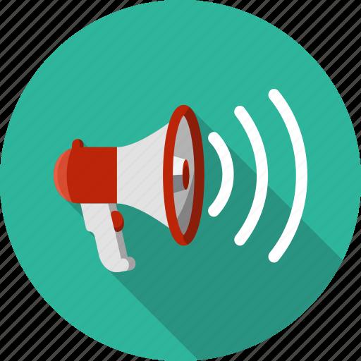 amplify, communication, loud, megaphone, speaker icon