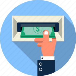 atm, buy, cash, hand, money, payment, shopping icon