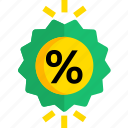 discount, ecommerce, percent, sale, shop, shopping icon