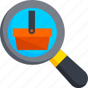 ecommerce, find, magnifier, search, shop, shopping icon