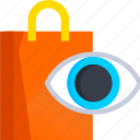 ecommerce, eye, shop, shopping, view, vision icon