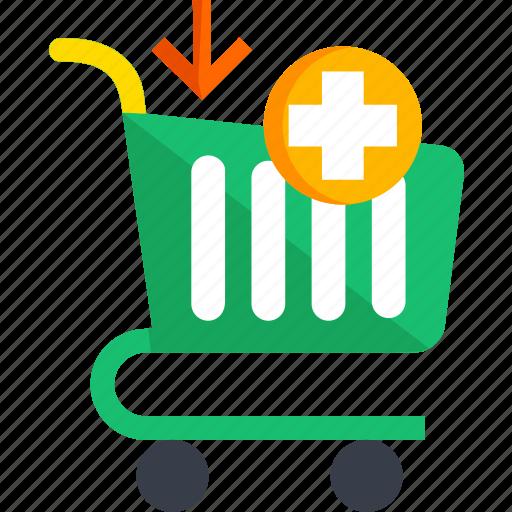 add, basket, cart, ecommerce, shop, shopping icon