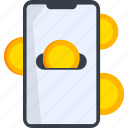 bitcoin, coin, ecommerce, payment, save, shop, shopping icon