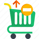 basket, cart, ecommerce, remove, shop, shopping icon
