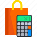 calculate, calculator, ecommerce, shop, shopping, store icon