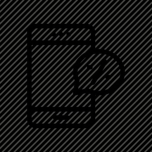 bubble, discount, mobile, offer, sale icon