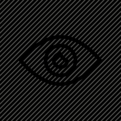 eye, eyeball, look, see, view icon