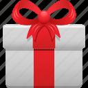bow, box, gift, gift box, present, ribbon icon