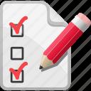 checklist, list, pencil, shopping, shopping list, test paper