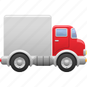 delivery truck, lorry, shipping, truck, van, vehicle