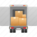 box, crate, delivery, delivery truck, lorry, shipping, truck
