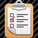 checklist, clipboard, list, logistics, shipping icon