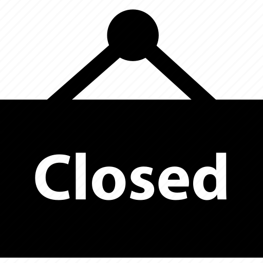 closed, online, shop, shopping, sign icon