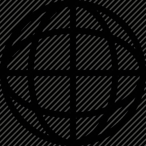 earth, globe, internet, sphere, world icon