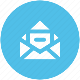 email, email message, letter, mail, mailing, newsletter, open mail icon
