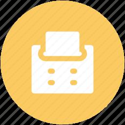 copy machine, facsimile, fax, fax machine, photocopier, printer icon