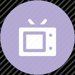 antenna, channel, electronic, retro tv, television, tv, tv set icon