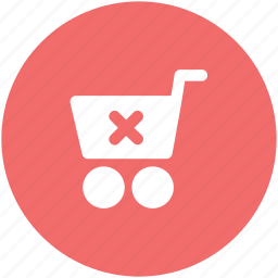 buy, delete from cart, ecommerce, online shopping, shopping cart, supermarket, trolley icon