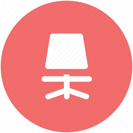 chair, furniture, mesh chair, office, office chair, revolving chair icon