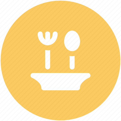 dining, food serving, fork, plate, restaurant, spoon, tableware icon